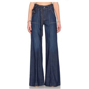 Seven all Mankind Belted Palazzo Jeans St. Tropez